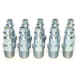 """10 Foster M Style Air Hose Fittings 1/4"""" Male NPT Coupler Pl"""