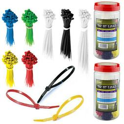 1300 cable ties assortment colors size zip