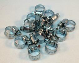 """15 Pcs Stainless Steel Drive Hose Clamps  Worm Clips 3/8""""-1/"""