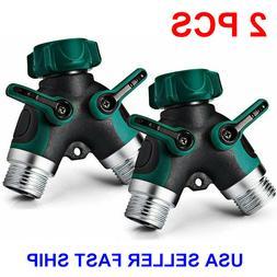 2 Packs 3 Colors Y Garden Hose Connector Splitter 2-Way Conn