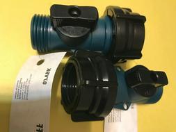 2 Pk. Gilmour Garden Hose Shut Off, Waterway Filter On/Off V