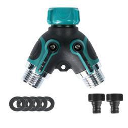 2 Way Heavy Duty Hose Splitter For Garden Water Tap Converte