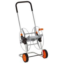 Gardena 2681 164-Foot Wheeled Metal Garden Hose Reel With Ad