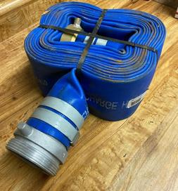 """Apache Hose 3"""" x 25' PVC Lay Flat Discharge Hose with Alumin"""