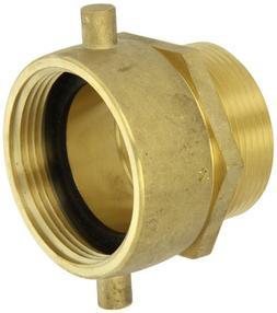Moon 363-2522561 Brass Fire Hose Adapter, Pin Lug Swivel, 2-