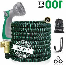 Garden Water Hose Expandable Double Latex Core 3/4'' Soli
