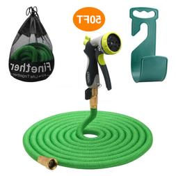 50 Ft Expandable Garden Hose Watering Hose Pipe Woven Fabric