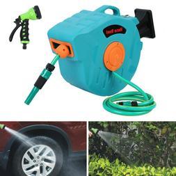 65' Auto Rewind Retractable Hose Reel Garden Watering Wall M