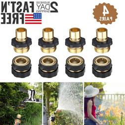 4 Pairs Garden Hose Quick Connect Water Hose Fit Brass Femal
