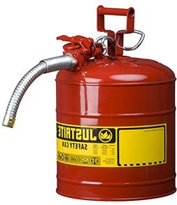 JUSTRITE AccuFlow Safety Can, Type II, 5gal, Red, 1 Hose