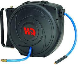 Air Hose Reel With Retractable 50 Foot Hose 3/8 Inch ID Moun