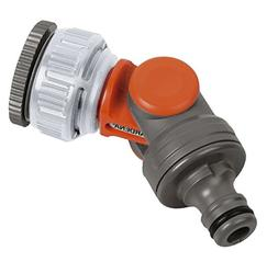 Gardena Angled Tap Connector - Grey/Orange
