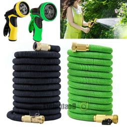 Deluxe 25 50 100FT Feet Expandable Flexible Garden Water Hos