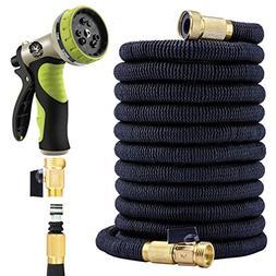 Flexible Garden Hose 50 Ft - Nozzle 9 Settings, 12 Months Wa