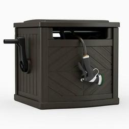 garden hose storage box reel organizer patio