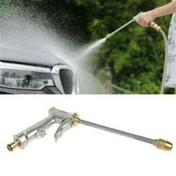Garden Spray Water Gun Hose Long Nozzle High Pressure Adjust