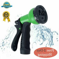Garden Water Sprayer Hose Soft Grip Nozzle 8 Spray Settings