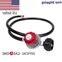Gas One 4FT High Pressure Propane 0-20 PSI Adjustable Regula