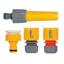 Hozelock Hose Fitting Starter Set Water Stop, with Nozzle Ta