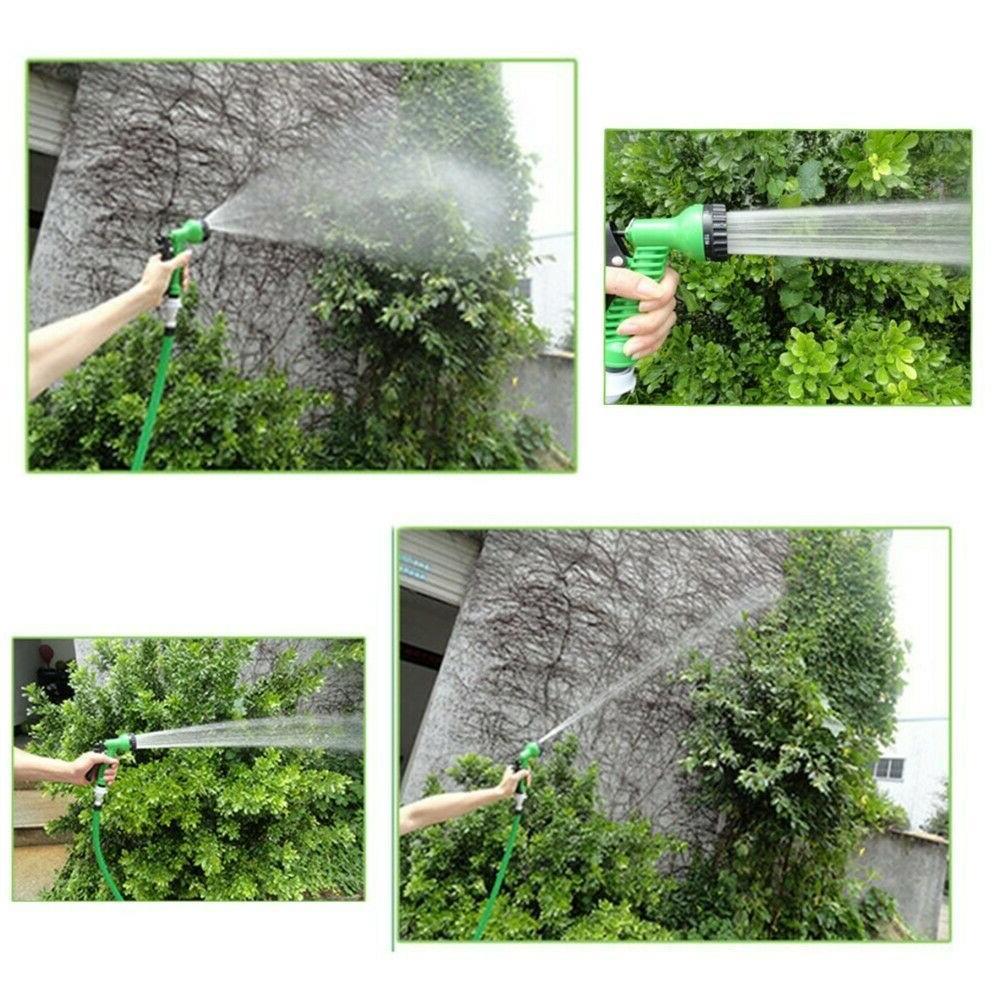 100FT Expandable Adjustable Flexible Garden Water Hose w/ Nozzle