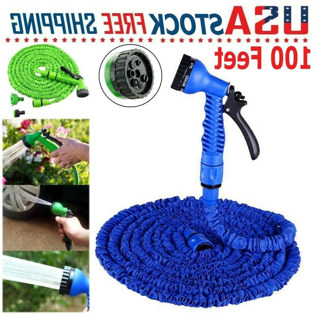 100ft expandable adjustable spray flexible car garden