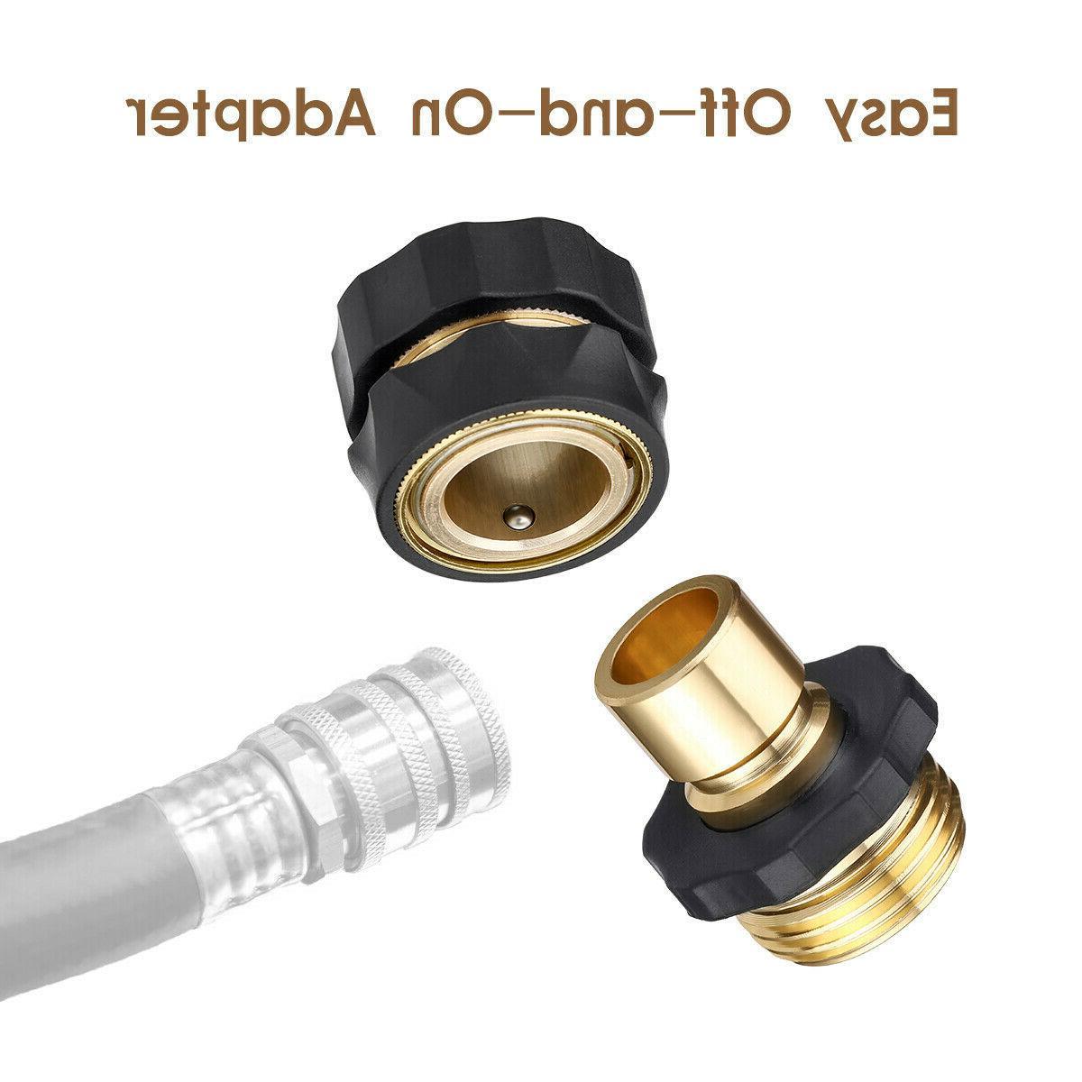 3/4' Hose Quick Connect Fit Brass Male Set