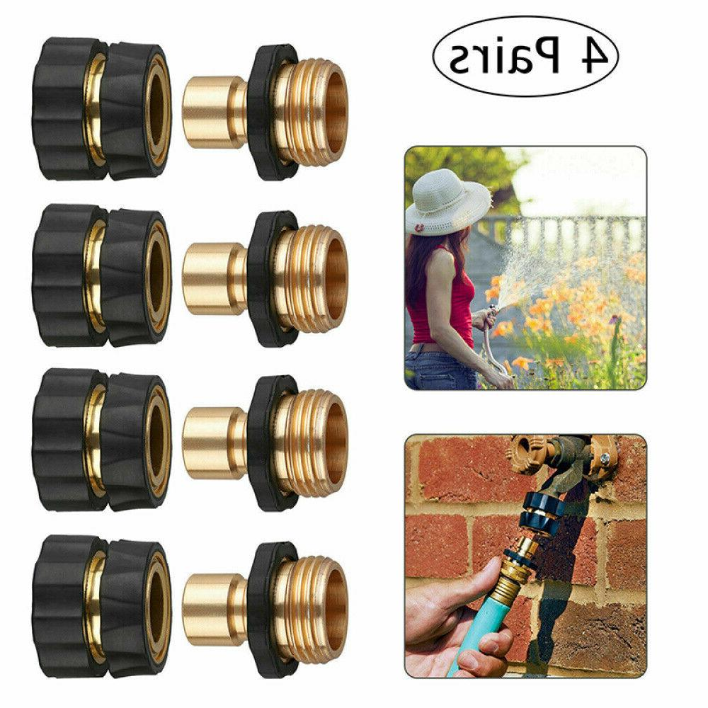 4 Hose Quick Fit Brass Tap Adapter Connector