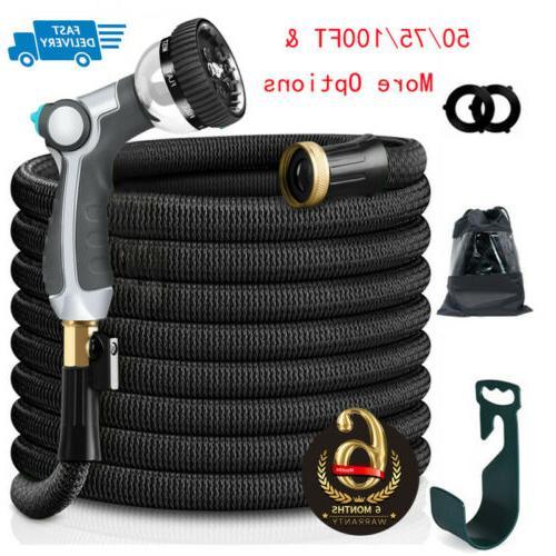 50 100ft latex garden hose expandable lightweight
