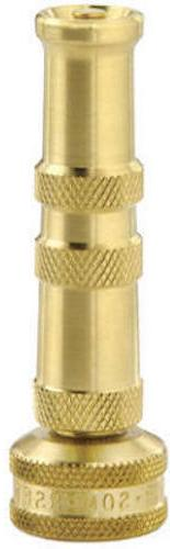 "Green Thumb 528GT Heavy Duty 4"" Brass Twist Water Hose Nozzl"