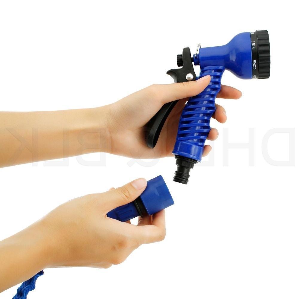Deluxe 25 50 75 100 Flexible Garden Hose w/ Spray Nozzle