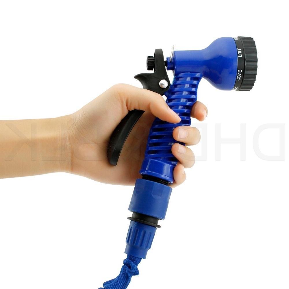 Deluxe 100 Flexible Garden Water Hose w/ Spray Nozzle