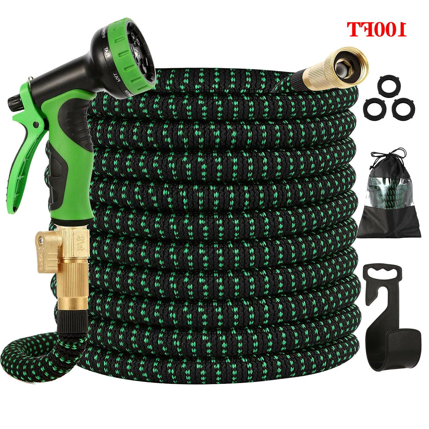 expandable garden hose 100ft upgraded flexible lightweight