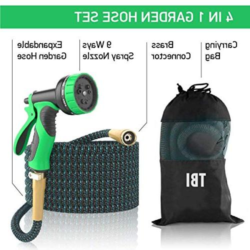 Garden 50Ft Extra – Brass 100% No-Rust & 9-Way Best Hose for Pocket Use - 100% Flexible Expanding up