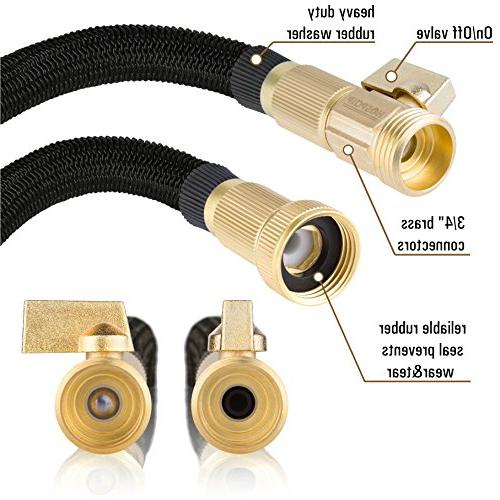 50ft ALL Expandable Hose Core, Brass Fittings, - Flexible Expanding with Spray by Hospaip