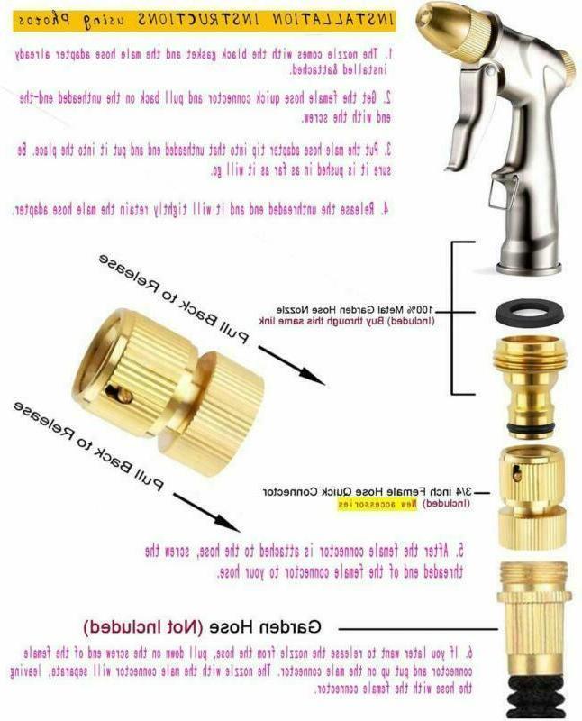 Garden Nozzle Heavy Duty for Washing Watering