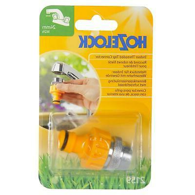 Hozelock Kitchen Hose Connector with 24mm Male Yellow