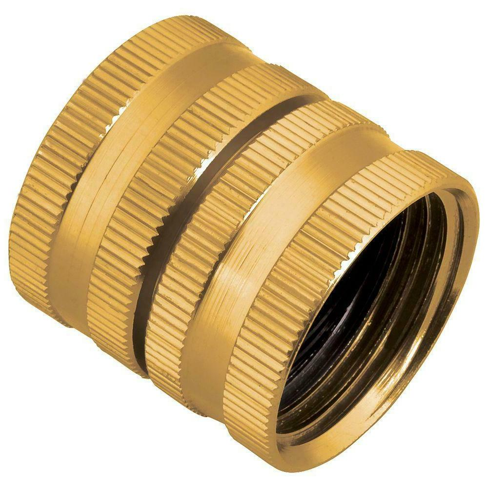 metal double female adapter to connect threaded