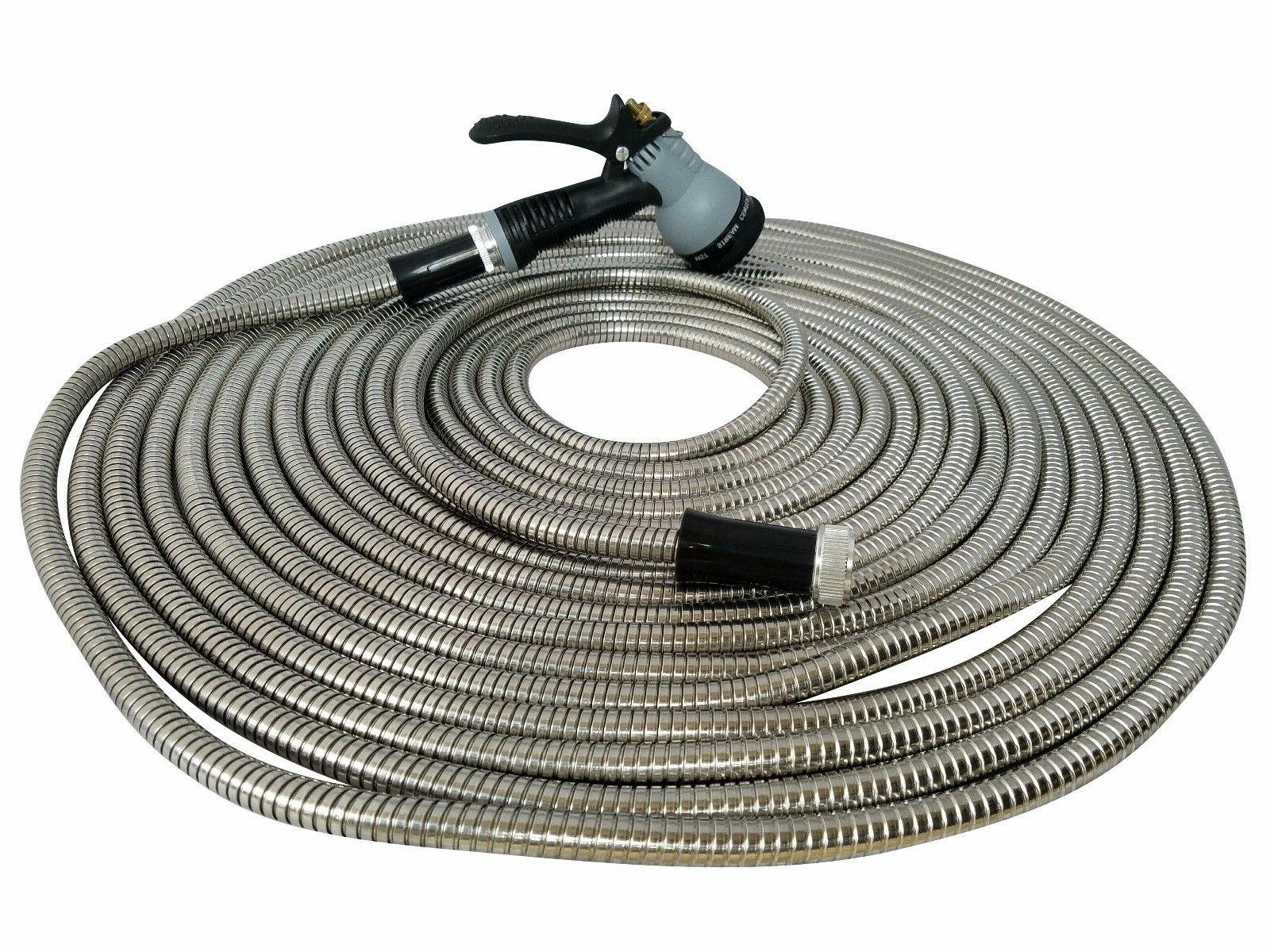 metal garden hose 50 ft stainless steel