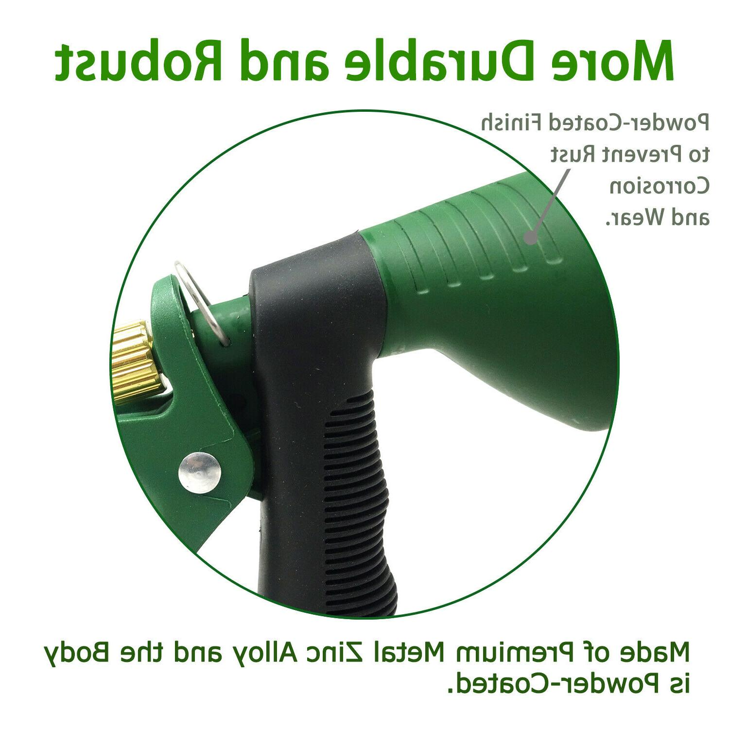 H2O Metal Hose Nozzle Watering Patterns