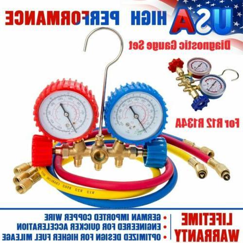 r134a r12 r22 r502 manifold gauge set
