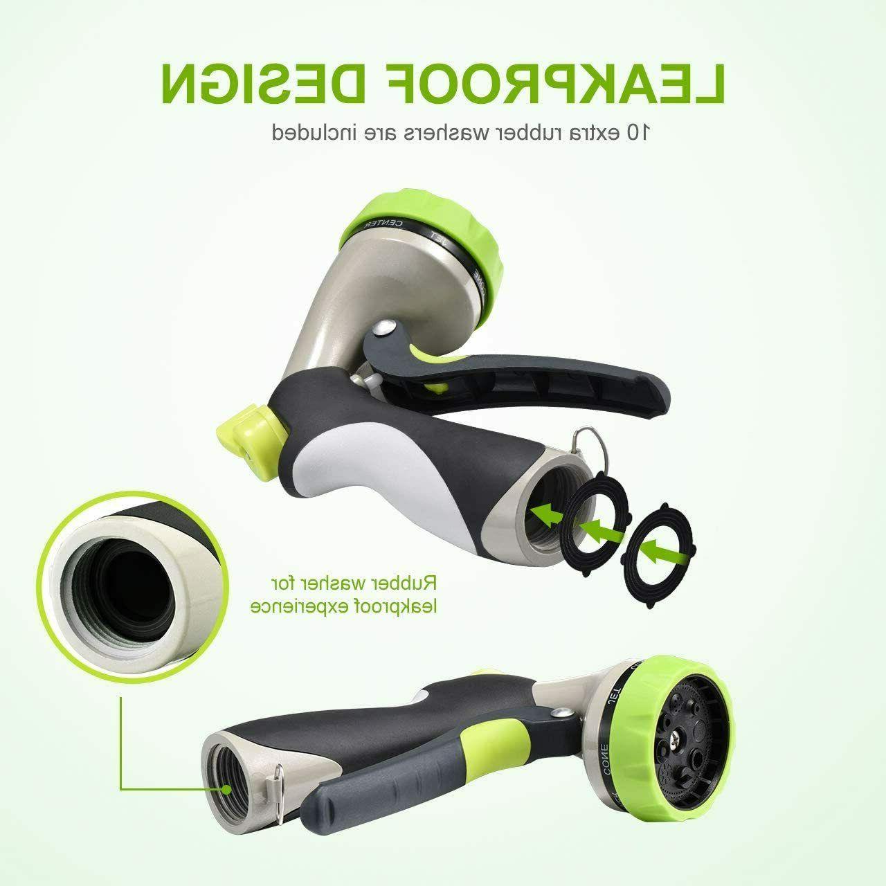 Spray Nozzle for Garden Hose, 8 Spayer, Press Hose