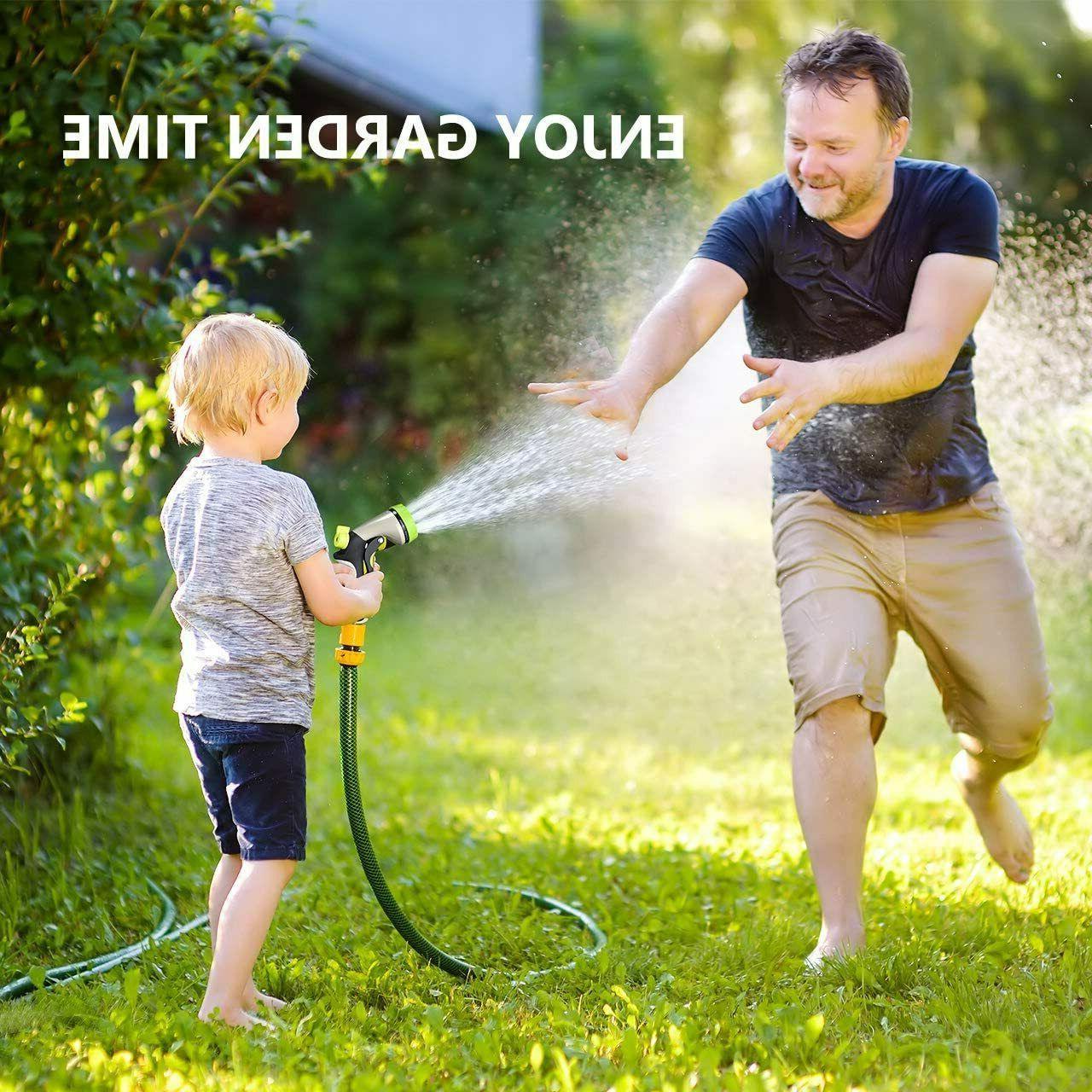 Spray Nozzle for Hose, 8 Modes Spayer, Hose