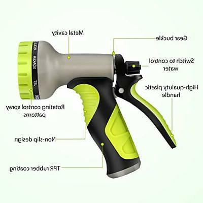 Hose Nozzle with 9 Patterns, Heavy-Duty