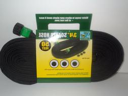 1 Garden SOAKER Water HOSE 50 FT Heavy Duty FLAT 60 Day War