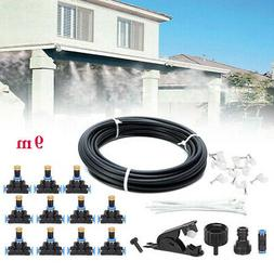 Misting Cooling System Garden Lawn Air Cooler Patio Water No