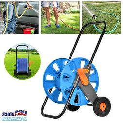Movable Garden Watering Trolley Hose Pipe Reel Cart Holder F