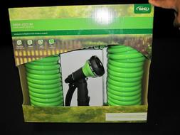 NEW IN BOX Orbit 27872 50-Foot Coil Hose with Nozzle, Green