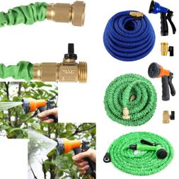 NEW SALE Green Latex Expanding Flexible Garden Water Hose wi