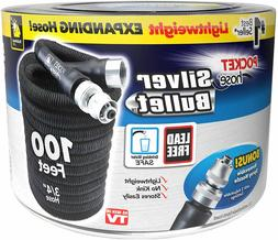 NEW POCKET HOSE SILVER BULLET 100FT BLACK WITH FREE SHIPPING
