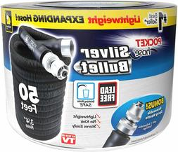 NEW POCKET HOSE SILVER BULLET 50FT BLACK WITH FREE SHIPPING